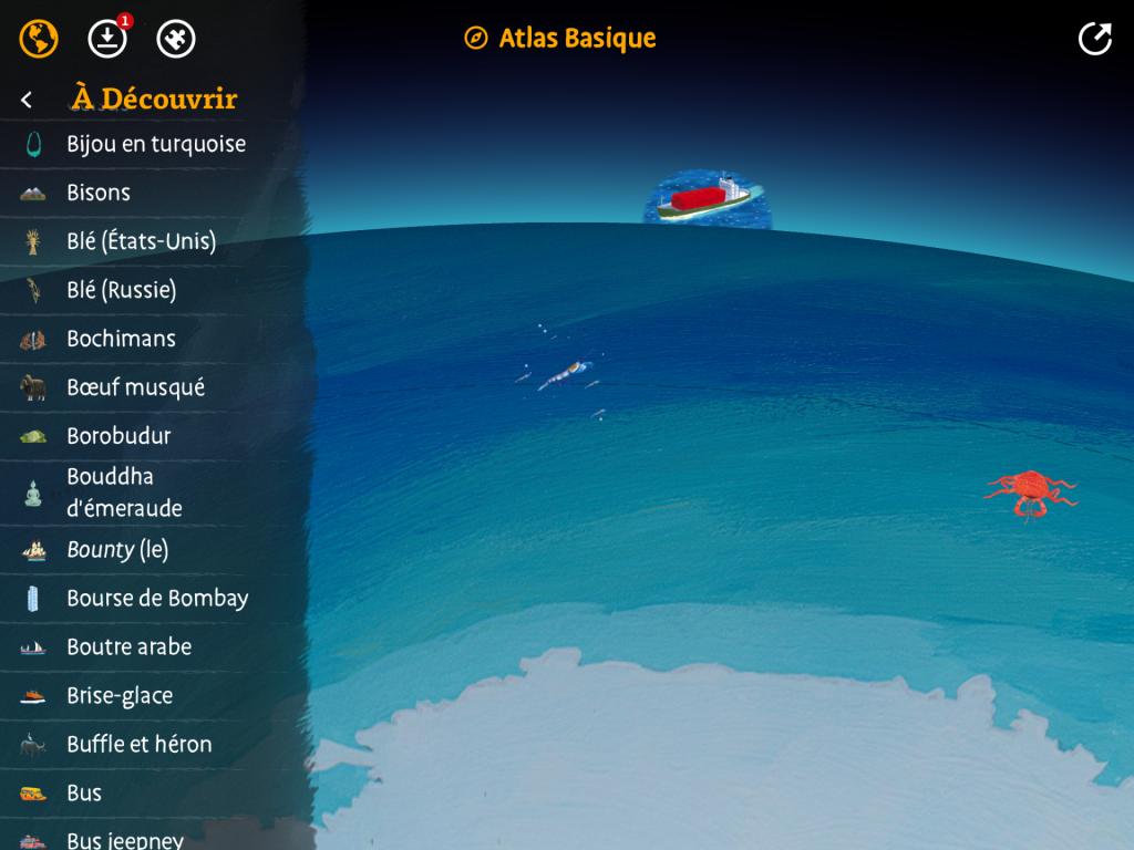 atlas monde ocean